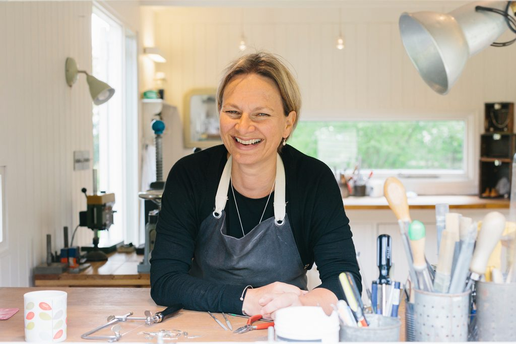 Alice Robson in her sussex studio