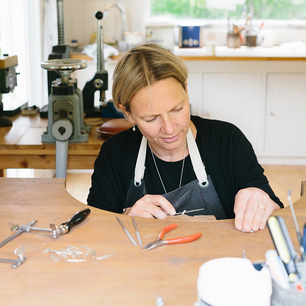 Alice Robson in her Sussex garden studio