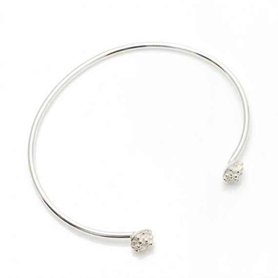 simple silver beaded end cuff