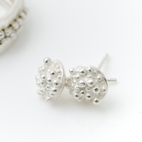 silver beaded stud