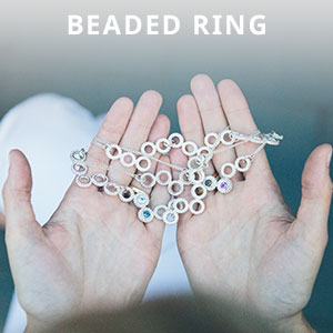 Beaded ring collection
