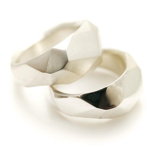 silver flint rings