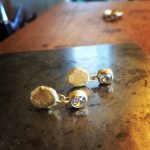 18ct gold nugget rings made from recycling gold and diamond jewellery