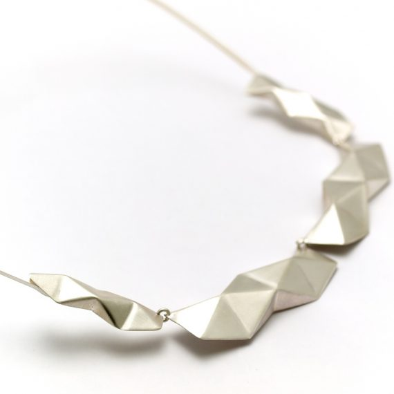 Solid Silver Folded Neckpiece