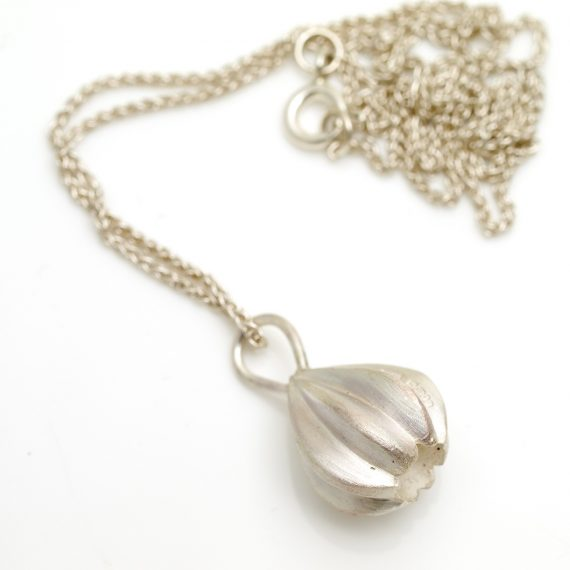 Silver little gem necklace