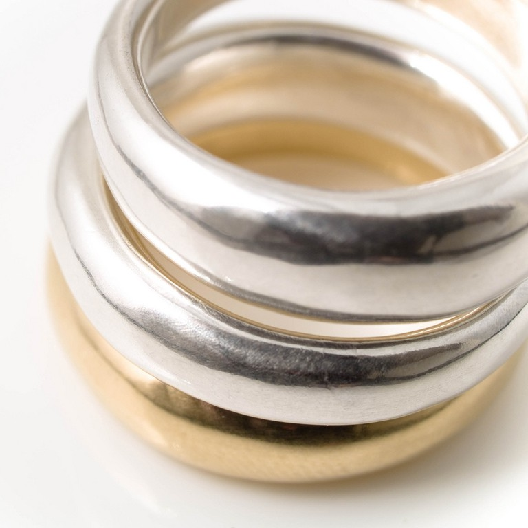 chunky silver ring alice robson jewellery