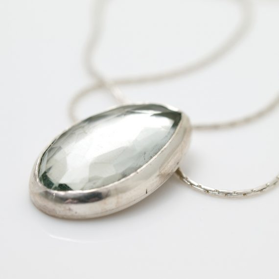 Rosecut Green Amethyst Necklace