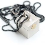 Square box pendant influenced by chinese tea caddies