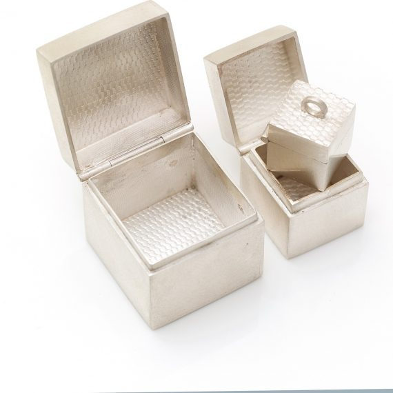 Silver box set of 3