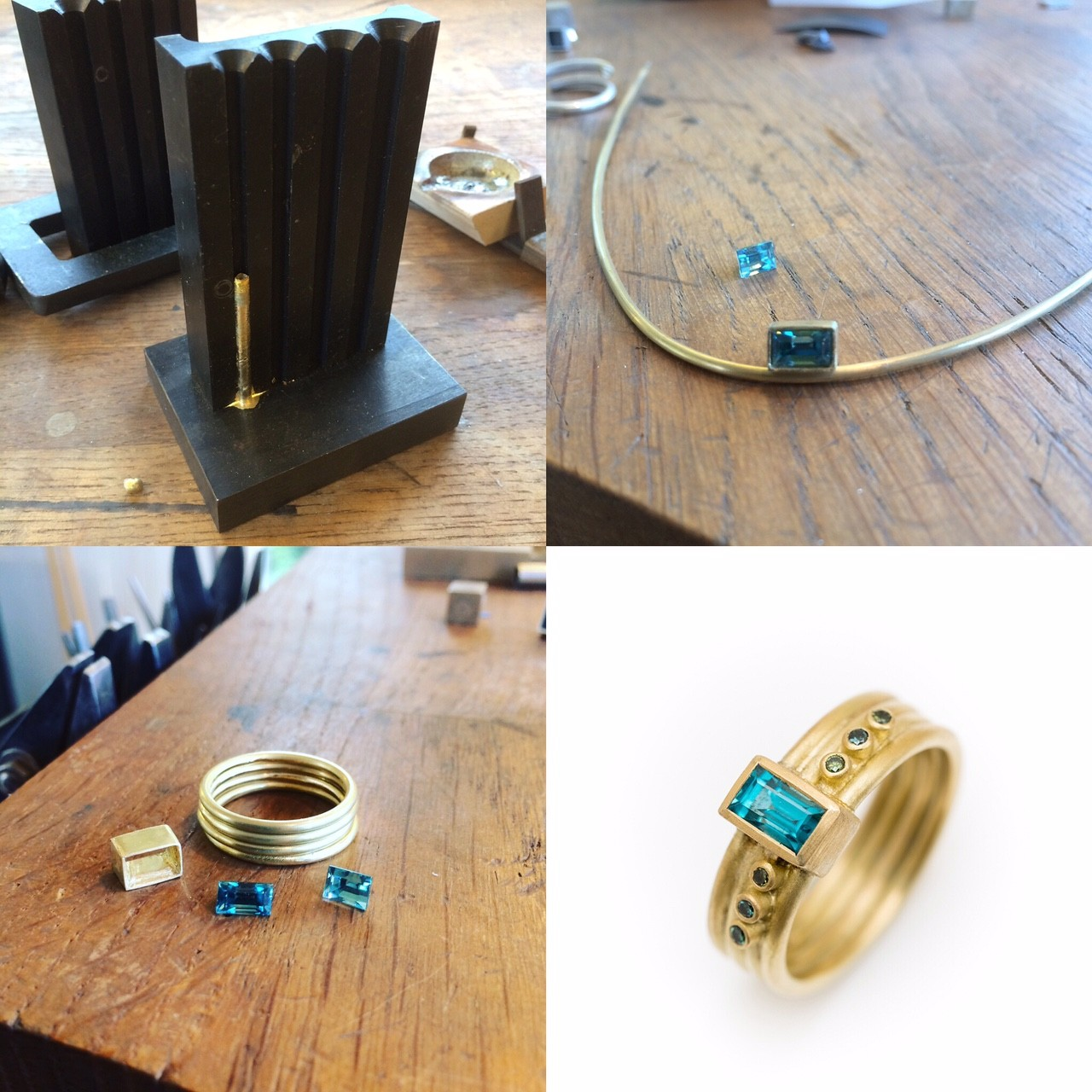 making a gold ring