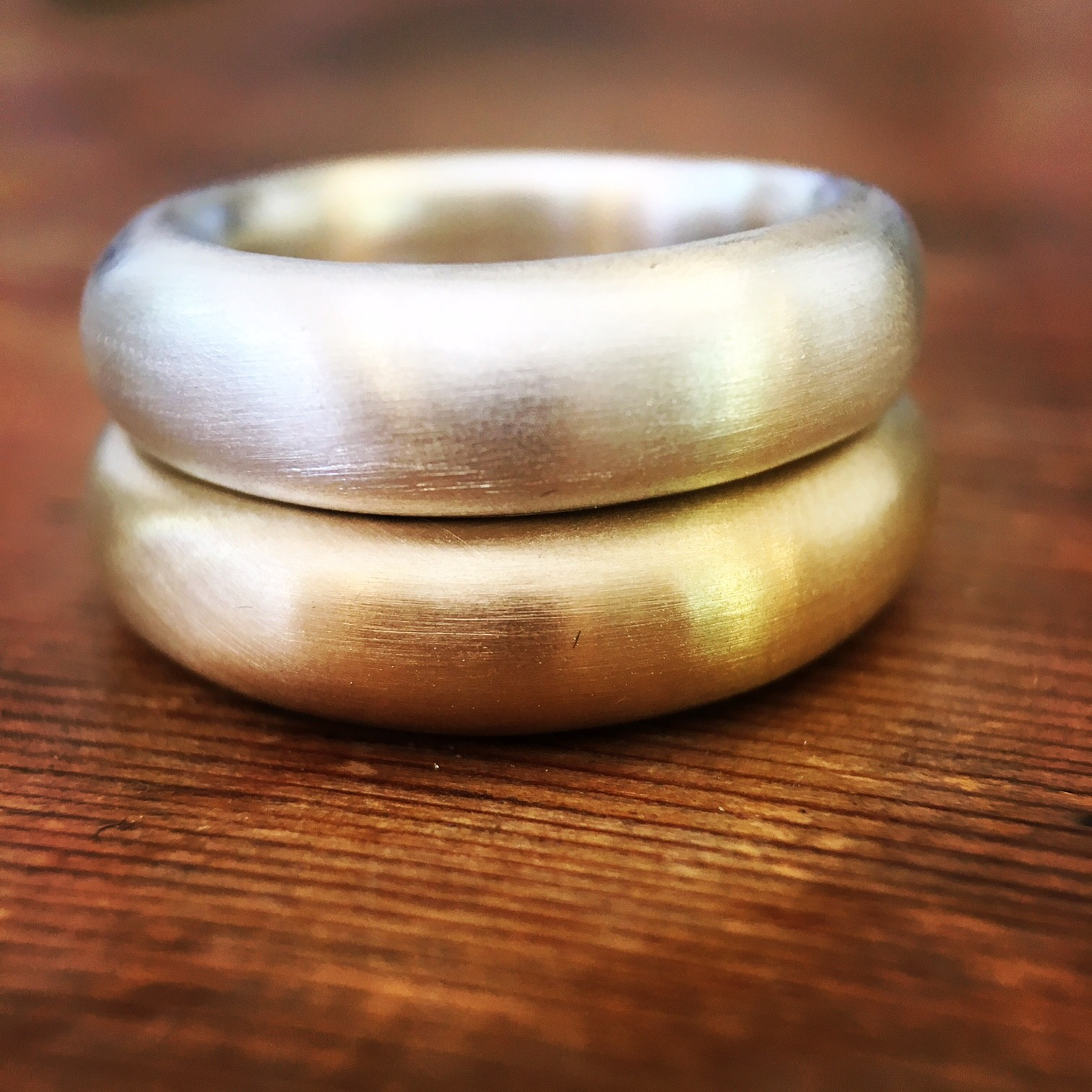 chunky gold and silver rings