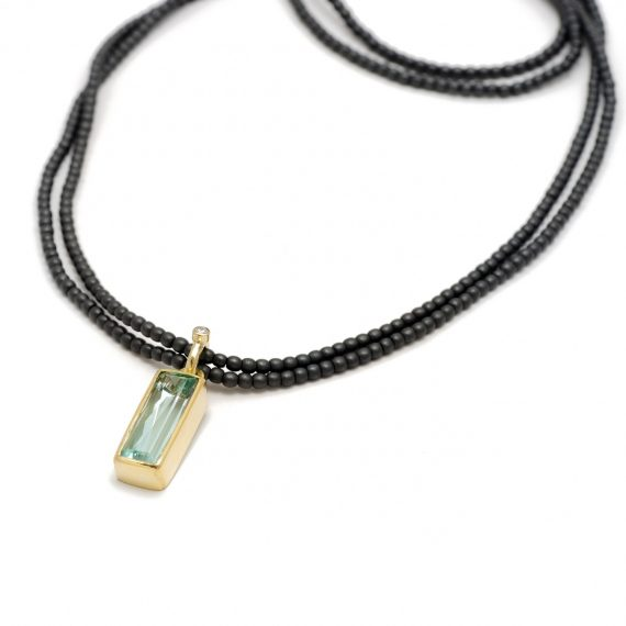 hematite necklace with beryl