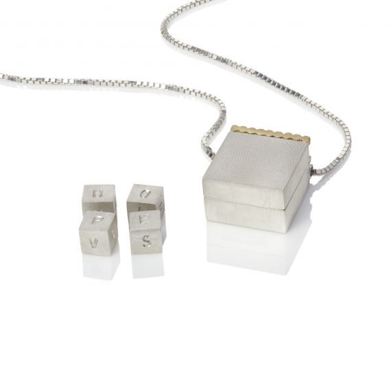 silver hinged box necklace