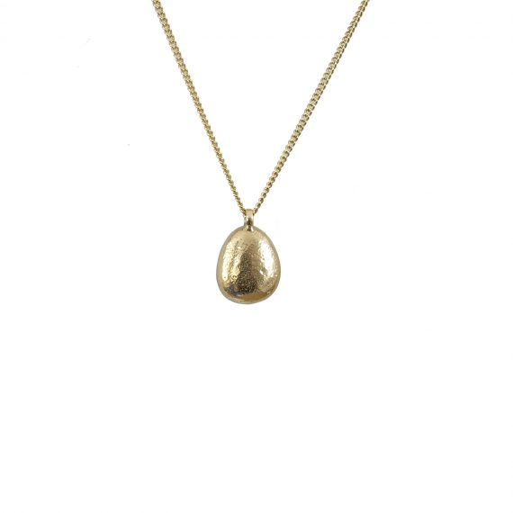 9ct gold pebble necklace