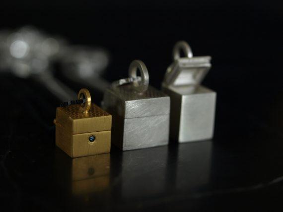 tiny hinged box pendants
