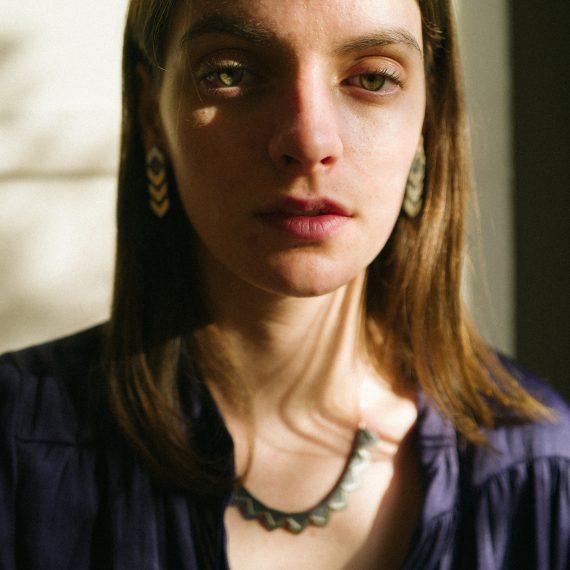 silver zigzag earring