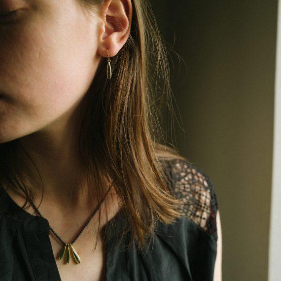 18ct gold Tourmaline drop earrings