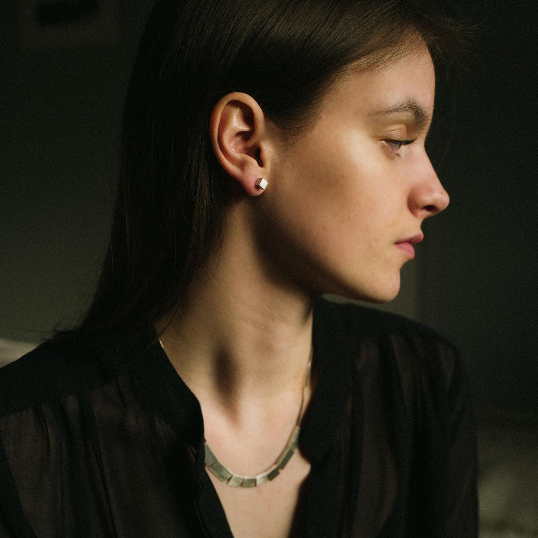 squares necklace